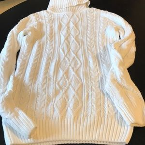 NWT Small White Cable Knit Croft & Barrow Sweater